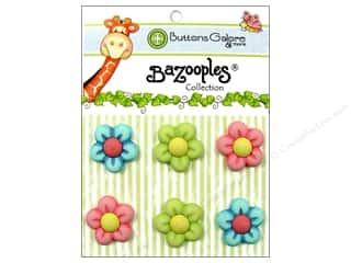 Flowers Buttons: Buttons Galore Button BaZooples Sets Flowers Medley