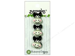Buttons Galore BaZooples Zach The Zebra 3pc