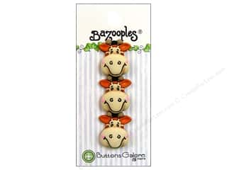 Buttons Galore & More Animals: Buttons Galore Button BaZooples Gertrude The Giraffe 3pc