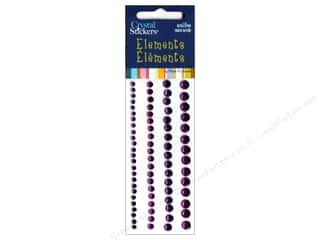Rhinestones $6 - $25: Mark Richards Crystal Sticker Round 3-6mm Purple