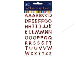 Rhinestones ABC & 123: Mark Richards Crystal Sticker Block Alpha Small Red