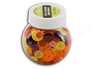 Buttons Galore Button Jar 5oz Tulip