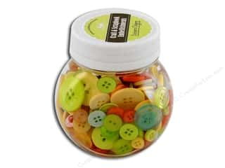 Buttons Galore Button Jar 5oz Citrus
