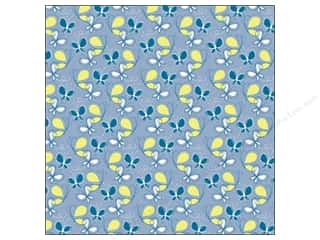 K&amp;Co Paper 12x12 Poppyseed Blue Butterflies (25 sheets)