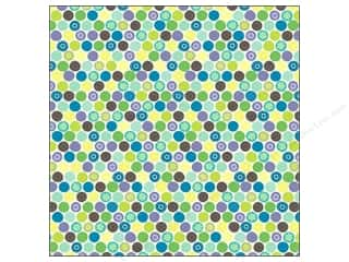 Flowers K&Company 12 x 12 in. Paper: K&Company Paper 12x12 Poppyseed Thermography Glitter Dot (12 sheets)
