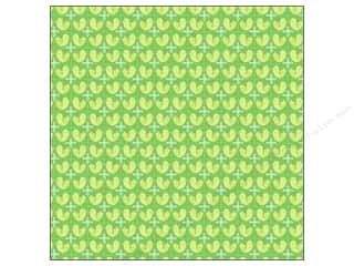 K&amp;Co Paper 12x12 Poppyseed Green Birds (25 sheets)