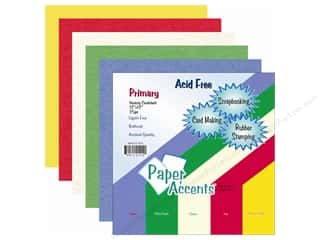 Paper Accents Cdstk Variety Pk 12x12 Primary 25pc