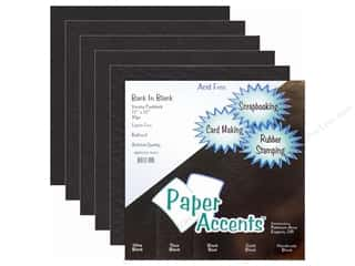 Paper Accents Cardstock Variety Pack 12x12 Back In Black 10pc