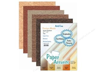 Clearance Blumenthal Favorite Findings: Cardstock Variety Pack 8 1/2 x 11 in. Precious Metals 10 pc.