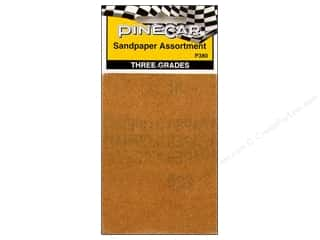 sandpaper: PineCar Tool Tool Sandpaper Assorted 6pc