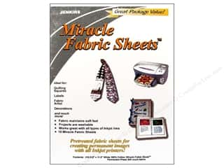 Transfers 11 in: C. Jenkins Miracle Fabric Sheets 8 1/2 x 11 in. 10 pc. White