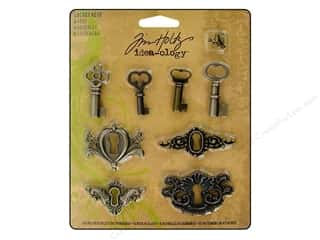 Tim Holtz Idea-ology Locket Keys 8pc