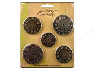 Tim Holtz Clearance Books: Tim Holtz Idea-ology Timepieces Clock Faces 5pc