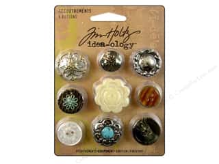 button: Tim Holtz Idea-ology Accoutrements Buttons 9pc