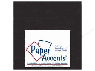 chipboard 6x6: Paper Accents Chipboard Extra Heavy 6x6 Black (25 sheets)