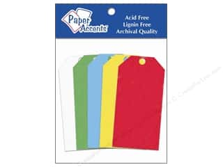Paper Accents Craft Tags 3.25&quot; Primary 25pc