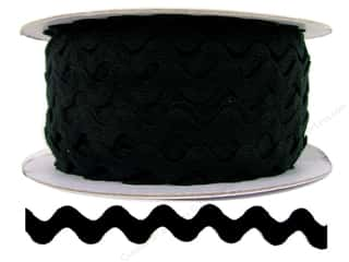 Rick Rack / Ric Rac: Ric Rac by Cheep Trims  1/2 in. Black (24 yards)