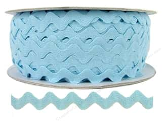 Rick Rack / Ric Rac: Ric Rac by Cheep Trims  1/2 in. Light Blue (24 yards)