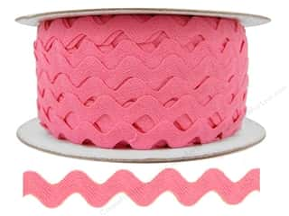 Cheep Trims Ric Rac jumbo: Ric Rac by Cheep Trims  1/2 in. Dark Pink (24 yards)