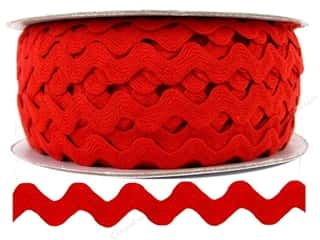 "Ribbon Work: Ric Rac by Cheep Trims  1/2"" Red (24 yards)"