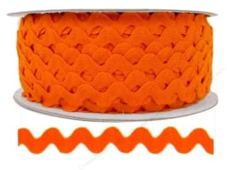 "Cheep Trims Ric Rac 1/2"": Ric Rac by Cheep Trims  1/2 in. Orange (24 yards)"