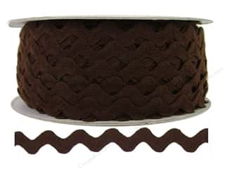 Cheep Trims $9 - $12: Ric Rac by Cheep Trims  1/2 in. Brown (24 yards)