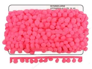 "Cheep Trims Pom Pom 1/2"" Fringe 1"" Hot Pink (18 yards)"