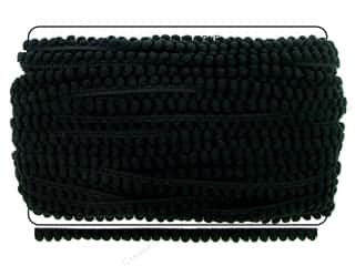 "Cheep Trims Pom Pom 1/4"" Fringe 3/8"" Black (36 yards)"