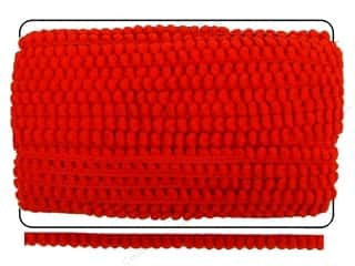 "Cheep Trims Pom Pom 1/4"" Fringe 3/8"" Red (36 yards)"