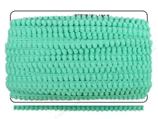 "Cheep Trims Pom Pom 1/4"" Fringe 3/8"" Aqua (36 yards)"