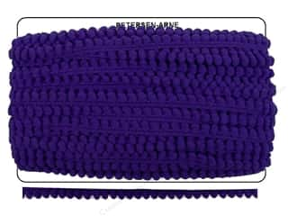 "Pom Poms: Cheep Trims Pom Pom 1/4"" Fringe 3/8"" Purple (36 yards)"