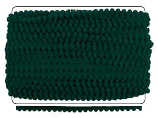 Pom Poms: Pom Fringe by Cheep Trims 3/8 in. Emerald (36 yards)