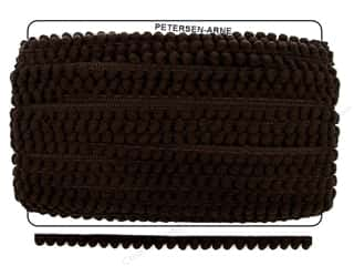 "Cheep Trims Pom Pom 1/4"" Fringe 3/8"" Brown (36 yards)"