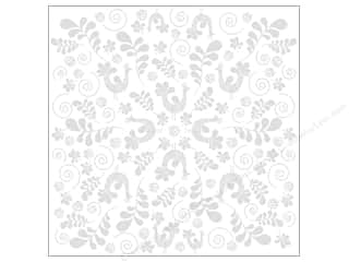 Bazzill Cardstock 12x12 15pc Glazed Fancy Bird Bazzill White UPC