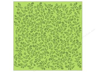 Bazzill Cardstock 12x12 15pc Glazed Fancy Leaves Lemon Lime UPC