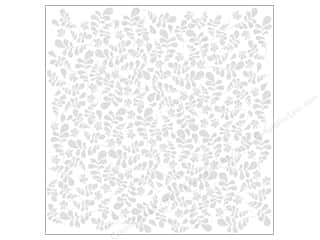 Bazzill Cardstock 12x12 15pc Glazed Fancy Leaves Bazzill White UPC