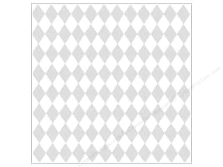 Glazed Cardstock: Bazzill Cdstk 12x12 15pc Glz Diamonds Baz Wht UPC