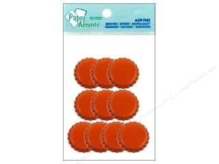 halloween spook-tacular: Paper Accents Bottle Caps 10pc Orange