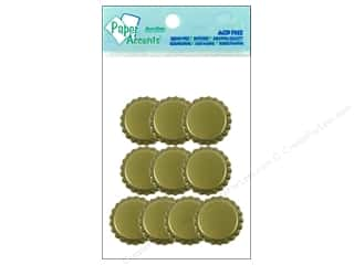 Paper Accents Bottle Caps 10pc Gold