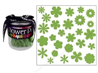 Bazzill Flowers Pot Paper Bling Envy 108pc