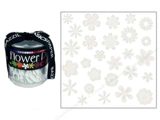 Bazzill Embellishment Flowers / Blossoms / Leaves: Bazzill Flowers Pot Paper Flowers 108 pc. Bling Diamond