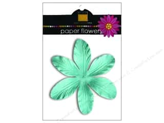 Scrapbooking &amp; Paper Crafts  Flowers / Blossoms: Bazzill Flowers Paper 3.75&quot; Lily Turquoise Mist