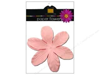 Scrapbooking &amp; Paper Crafts  Flowers / Blossoms: Bazzill Flowers Paper 3.75&quot; Lily Pinkini 6pc