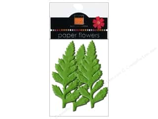 Flowers / Blossoms: Bazzill Flowers Paper Leaves 3 in. Ferns 6 pc. Parakeet