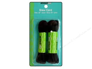 Rhode Island Draw Cord Non-Elastic Pkg 2 pc Black