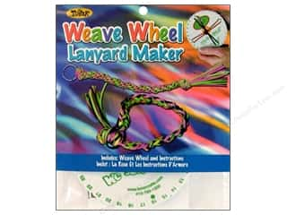 Looms Weaving: Toner Weave Wheel Lanyard Maker Foam