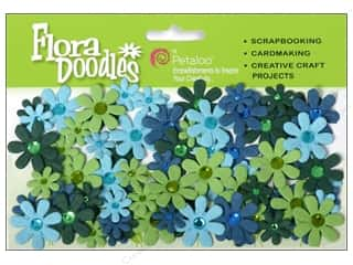 Flowers / Blossoms Blue: Petaloo FloraDoodles Jeweled Florettes Light Blue/Dark Blue/Green/Chartreuse