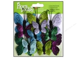 Unique New: Petaloo FloraDoodles Butterfly Velvet New Cool 12pc