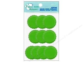 Paper Accents Bottle Caps 10pc Lime