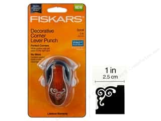 "photo corner paper punch: Fiskars Punch Lever Corner 1"" Scroll"
